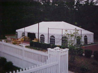 30x50 Frame Tent with Cathedral Side Walls
